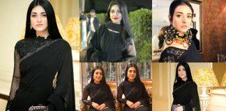 Sarah Khan Black Saree