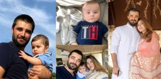 Beautiful Family Pictures of Naimal Khawar With Her Husband And Kids