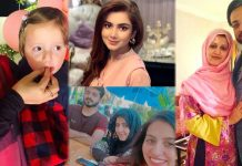Beautiful Family Pictures of Syeda Bushra Iqbal With Her Husband And Kids