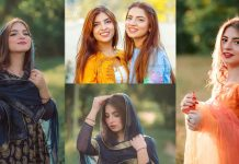 Dananeerr Mobeen Latest Beautiful Pictures With Her Sister Nafayal