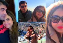 Nadia Khan And Faisal Mumtaz Rao New Pictures On Their Honeymoon