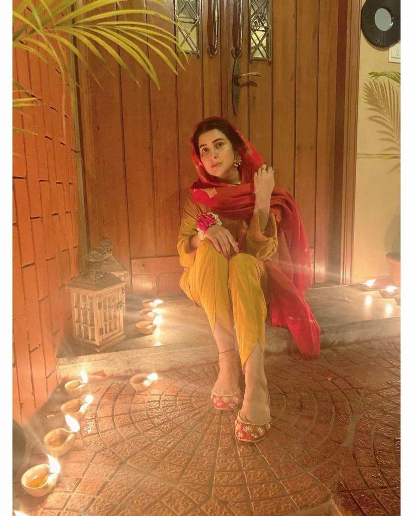 Pictures of Hania Aamir and Areeba Habib Celebrating Shab-e-Barat