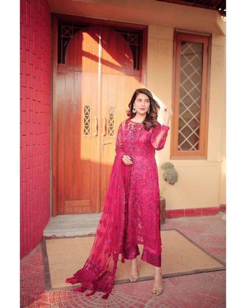 Areeba Habib Red Dress