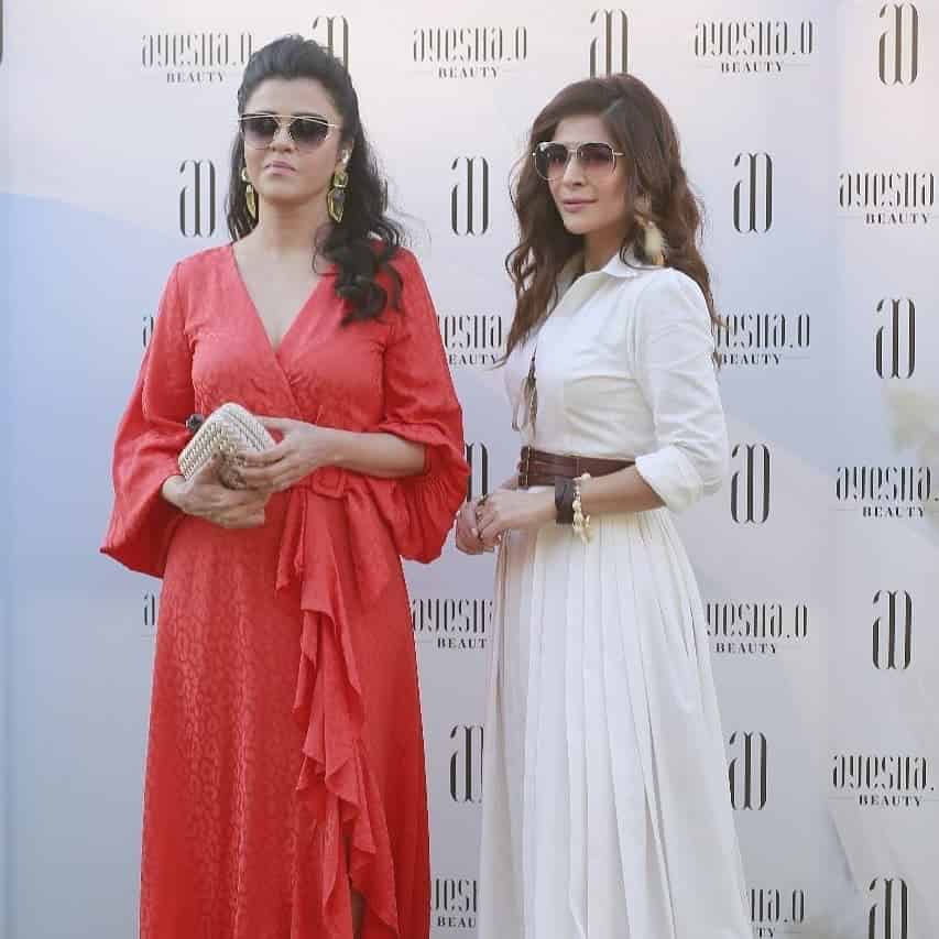 Ayesha Omar With Her Friends At The Launch of Her Skincare Brand in Pakistan