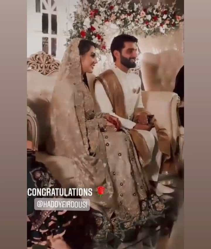 Haddy Firdousi Wedding Pictures With His Wife