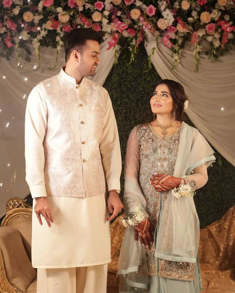 Junaid Jamshed's Brother Maaz And Iqra Akhter Engaged