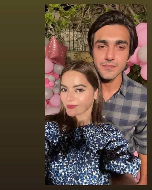 Beautiful Pictures of Minal Khan With Her Fiance Ahsan Mohsin Ikram