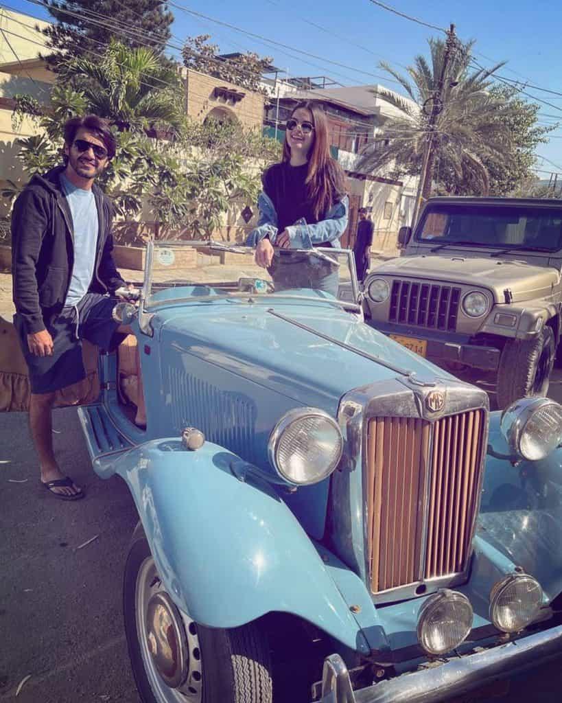 Beautiful Clicks of Minal Khan Enjoying With Her Husband On The Beach