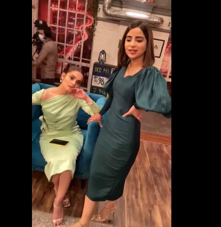 Minal Khan New Pictures and New Style With Saboor Ali