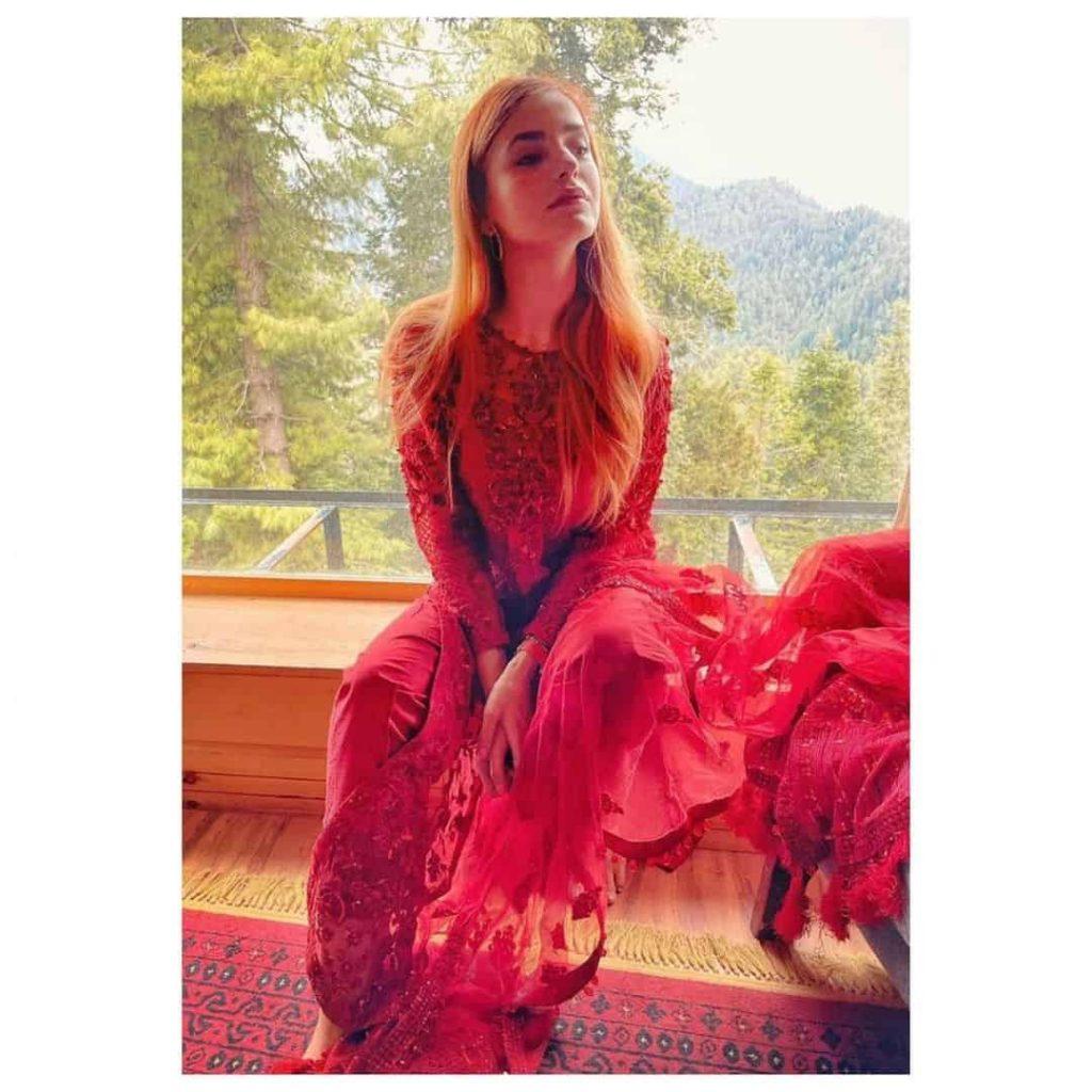 Momina Mustehsan Red Dress