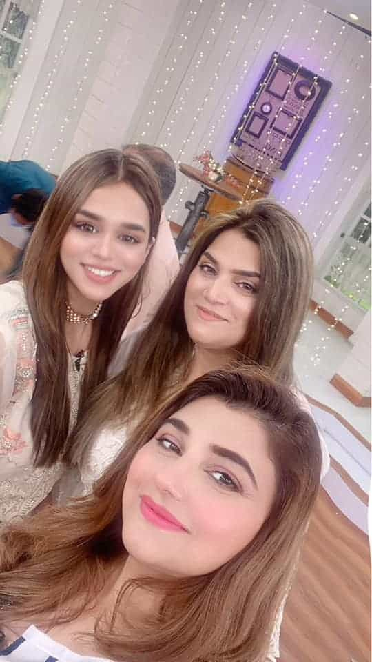 Beautiful Pictures of Javeria Saud Brother in Nida Yasir Morning Show