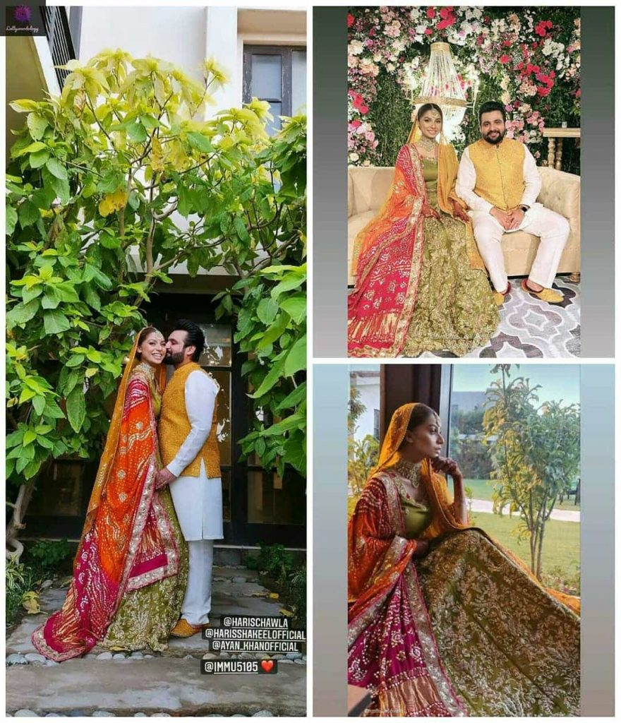 Ramsha Salahuddin Beautiful Mehndi Pictures With Her Husband