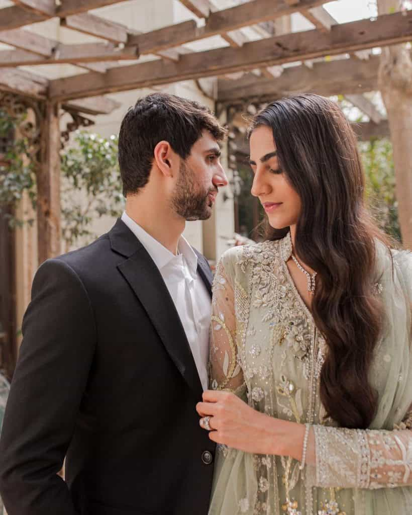 Rehmat Ajmal Walima Pictures With Her Husband