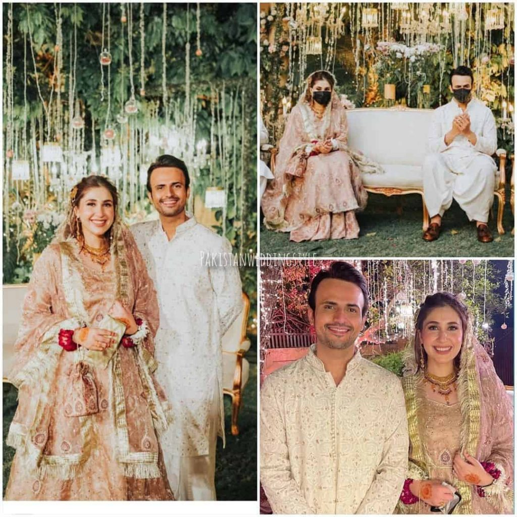 Usman Mukhtar Wedding Pictures With His Wife Zunaira Inam