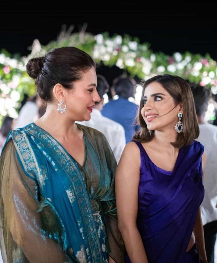 Zara Noor Abbas Is A Stunner As She Attends Friend's Wedding With Husband Asad