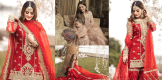 Aiman Khan New Bridal Look In Red Collection