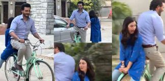 Ayeza Khan Enjoying A Bicycle Ride With A Childlike Smile Will Make You Wanna Be A Child Again!