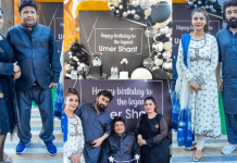 Nida Yasir Hosted Surprise Birthday Party at Her Restaurant For Umer Sharif