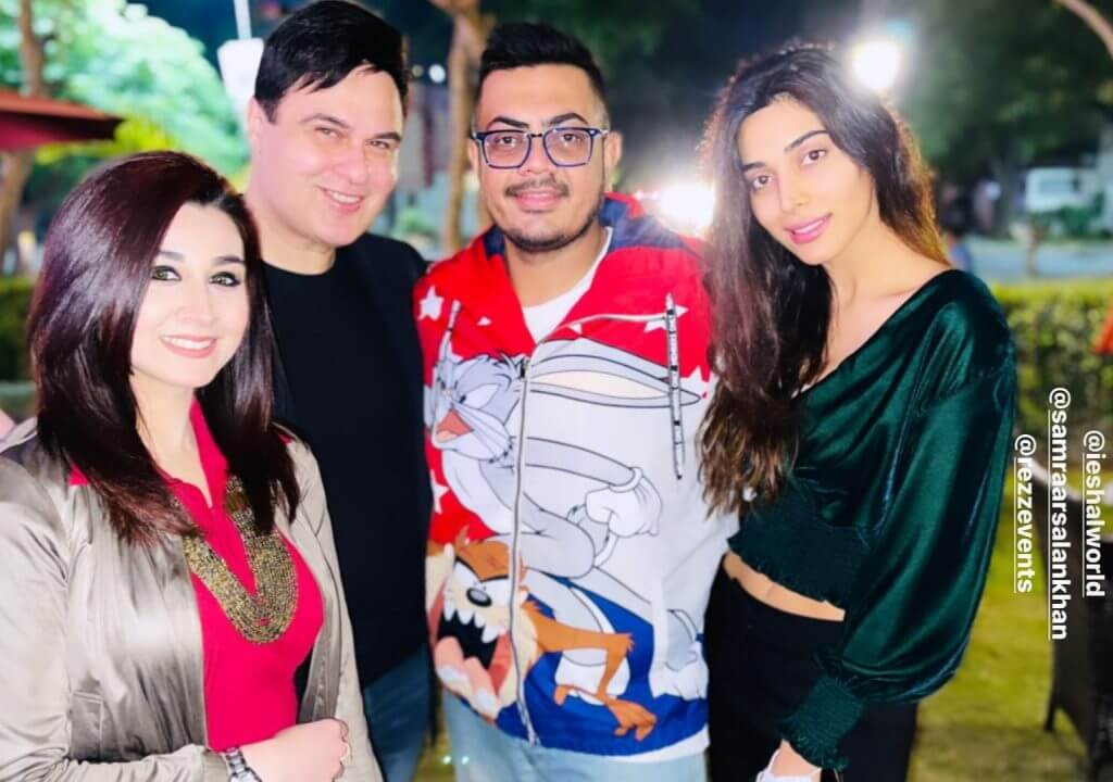 Nauman Masood With His Family At The Launch of His Restaurant in Islamabad