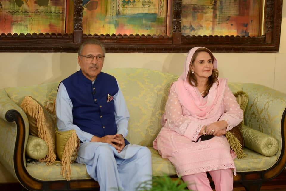 President Arif Alvi With His Wife Samina Alvi At Shan-e-Suhoor