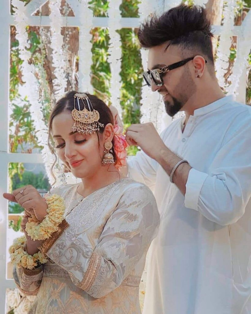 Beautiful Clicks of Sanam Chaudhry At Her Cousin's Wedding With Family