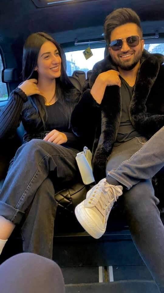 Sarah Khan And Falak Shabir New Pictures on Their Honeymoon