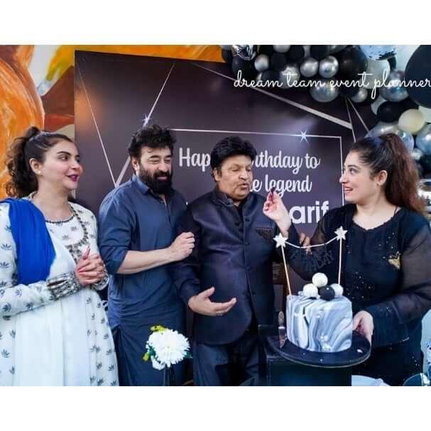 Nida Yasir Hosted Surprise Birthday Party at Her Restaurant For Umer Sharif