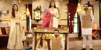 Beautiful Pictures of Aymen Saleem's in Nida Yasir Morning Show