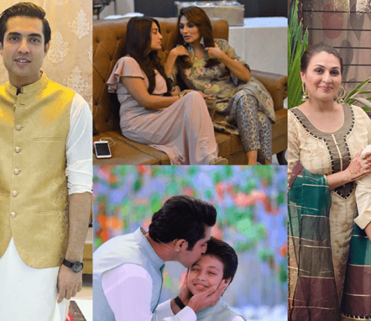 In Pics Iqrar Ul Hassan Celebrating Eid With His Both Wives