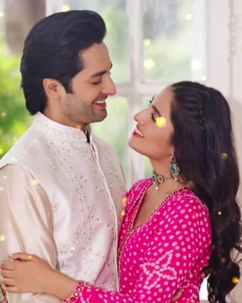 IN PICS: Ayeza Khan And Danish Taimoor Greet Their Fans On Eid