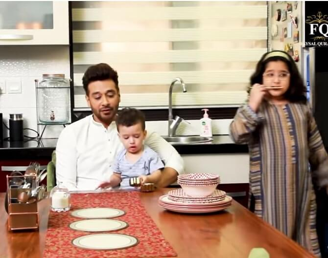 In Pics: Faisal Qureshi Sehri Party With Wife And Kids