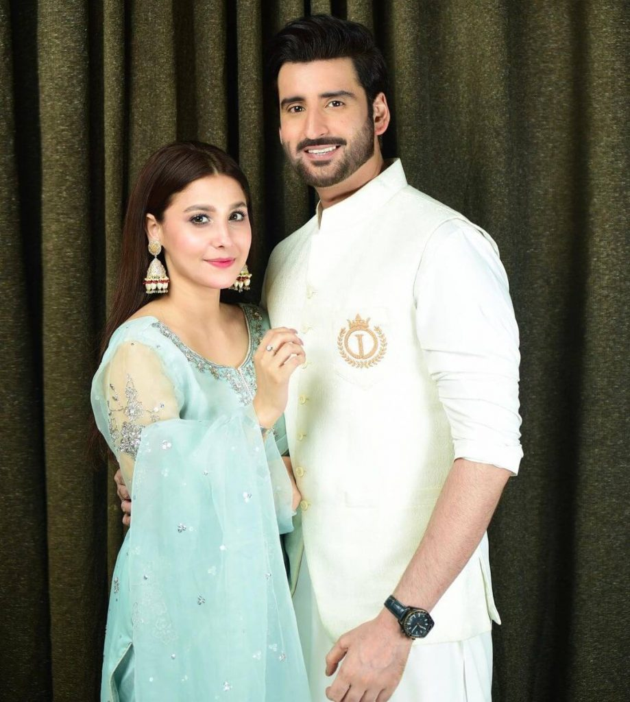 Newly Wed Couple Hina Altaf and Agha Ali Eid Pictures