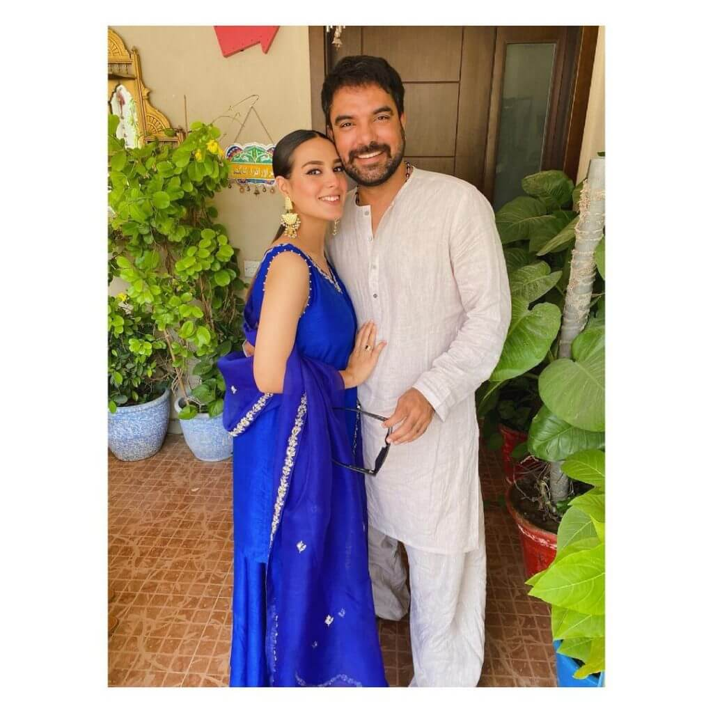 TV Actor Iqra Aziz's Eid Celebrations With Husband Yasir Hussain is Filled With Happiness