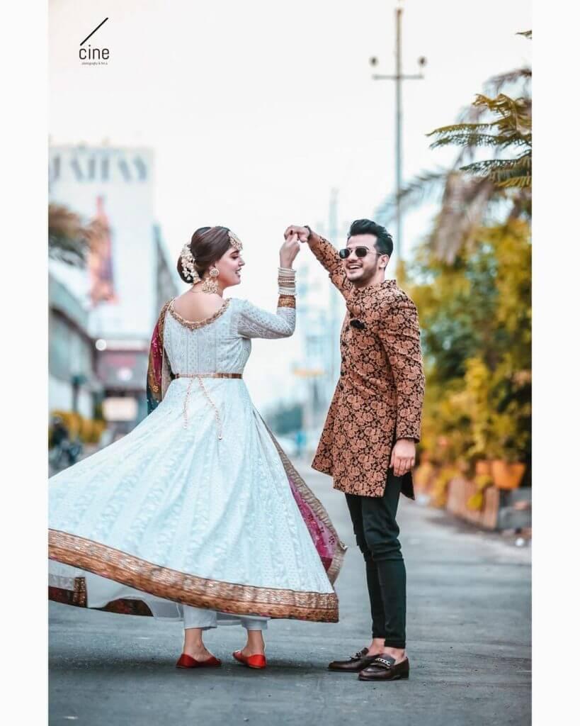 Beautiful Clicks of Kanwal With Her Husband Zulqarnain At Friends Wedding