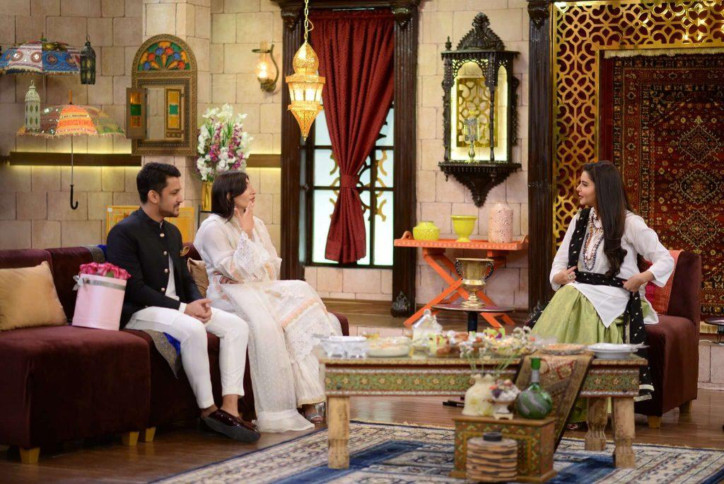 Newly Wed Couple Mariam Ansari and Owais Khan in Nida Yasir's Morning Show