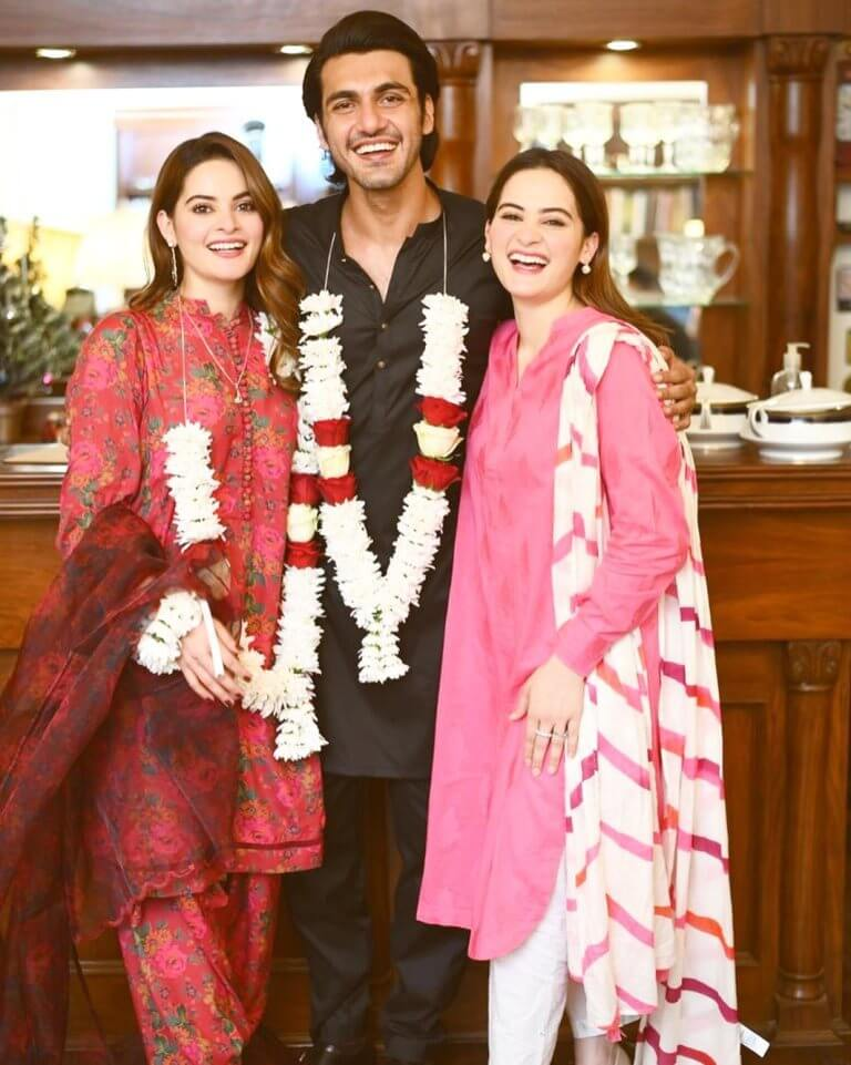 Beautiful Pictures of Minal Khan's Engagement With Her Family