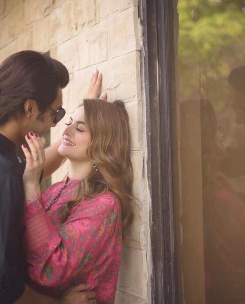 Ahsan Mohsin Ikram And Actress Minal Khan Engagement Pictures