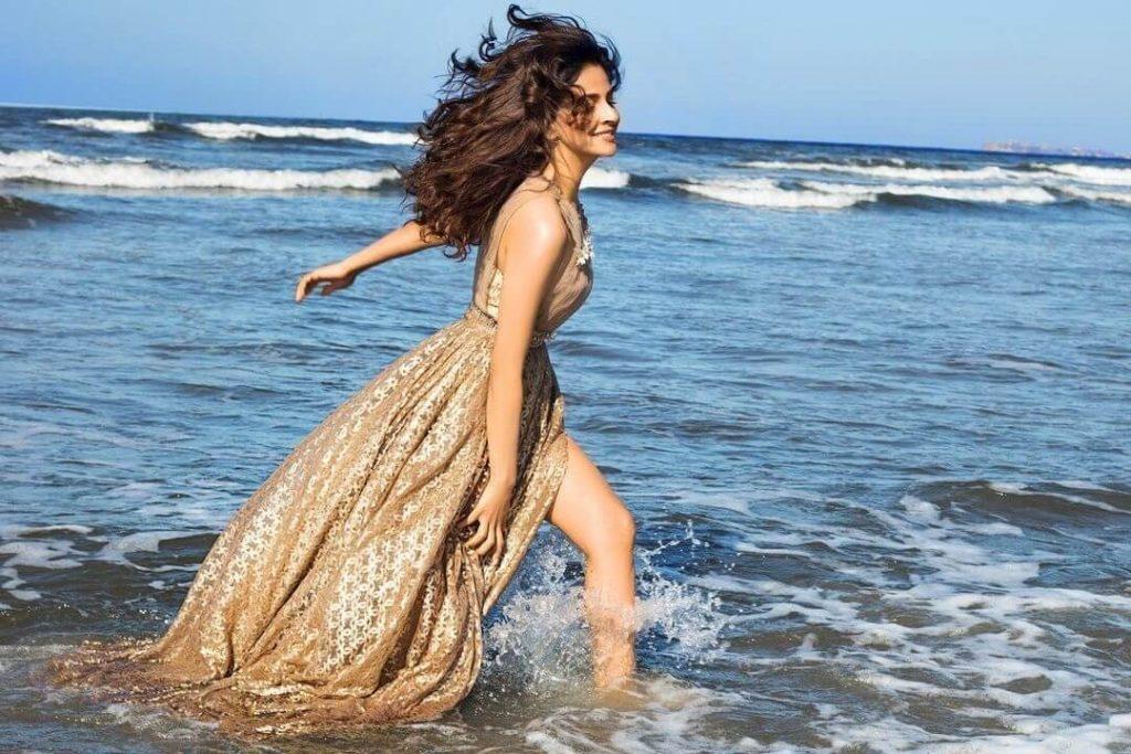 Saba Qamar Some New Adorable Clicks In Bold Dress