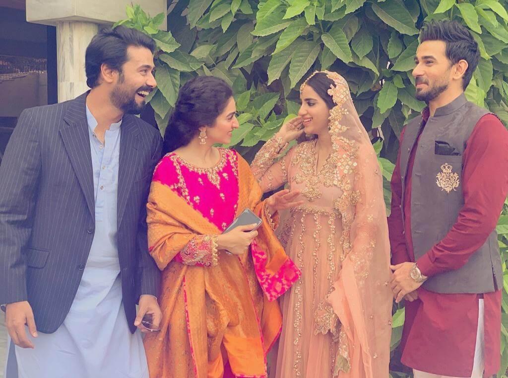 saboor ali with her husband