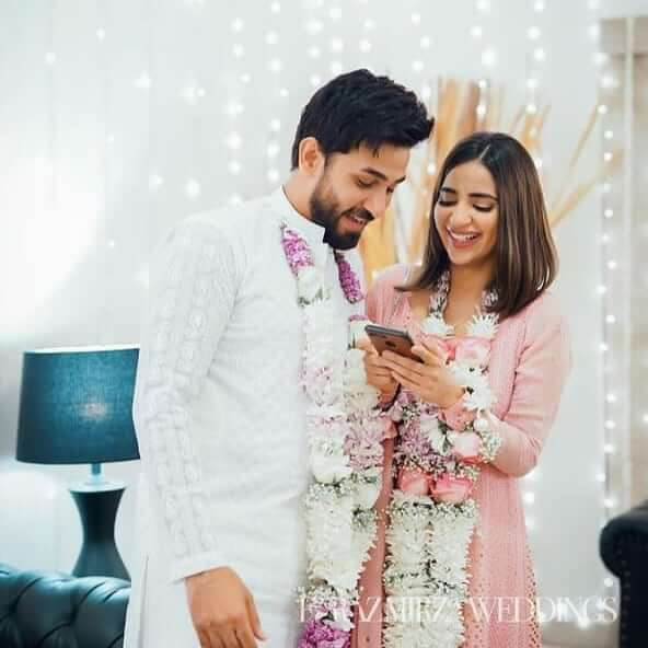 saboor ali ali with her husband