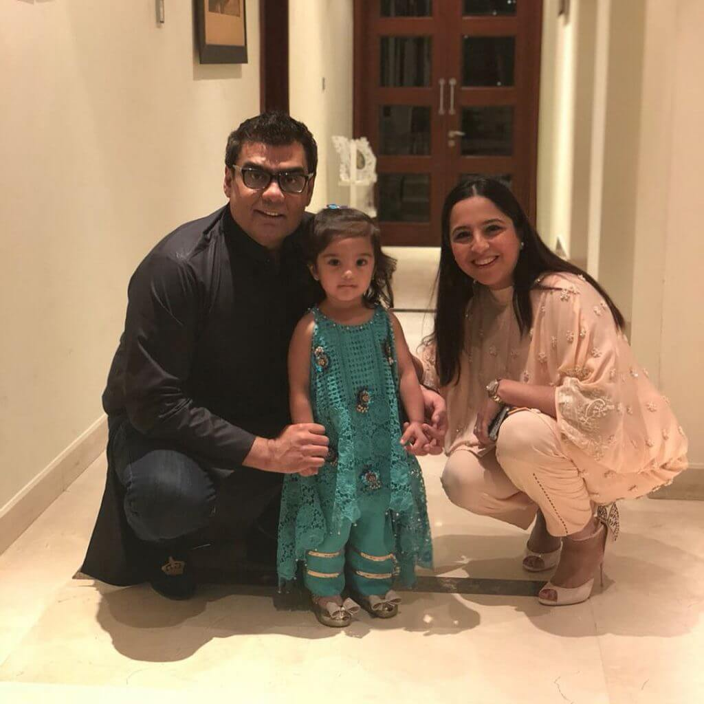 Salman Iqbal And Sabeen Iqbal Eid Day Pictures With Family