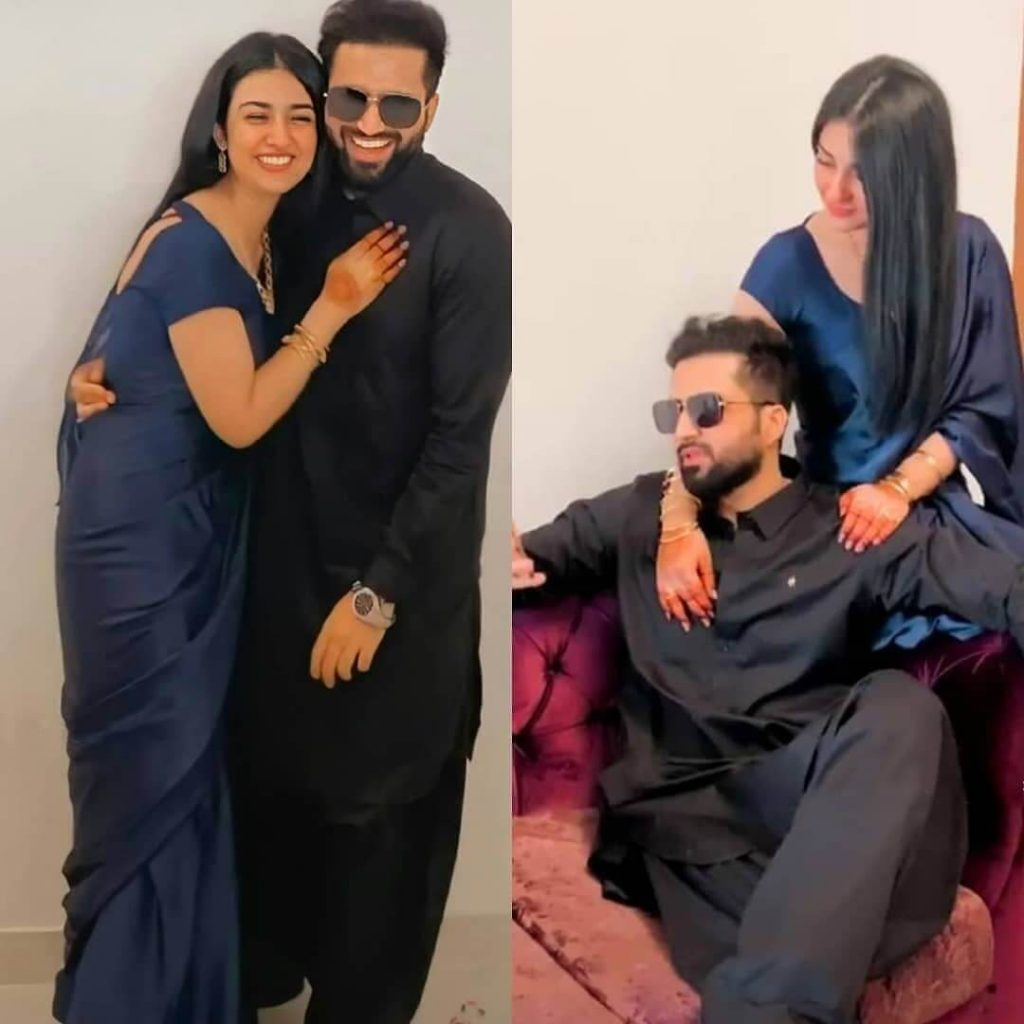 Sarah Khan New Latest Pictures With Her Lovely Husband Falak Shabir