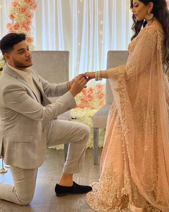 Youtuber Sunny Jafry And Mariam Asim Engagement Pictures