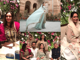 Beautiful Engagement Pictures of Minal Khan With Her Fiance And In-Laws