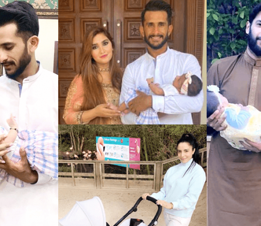 Beautiful Photos of Hasan Ali And Imad Wasim With His Wife And Daughter