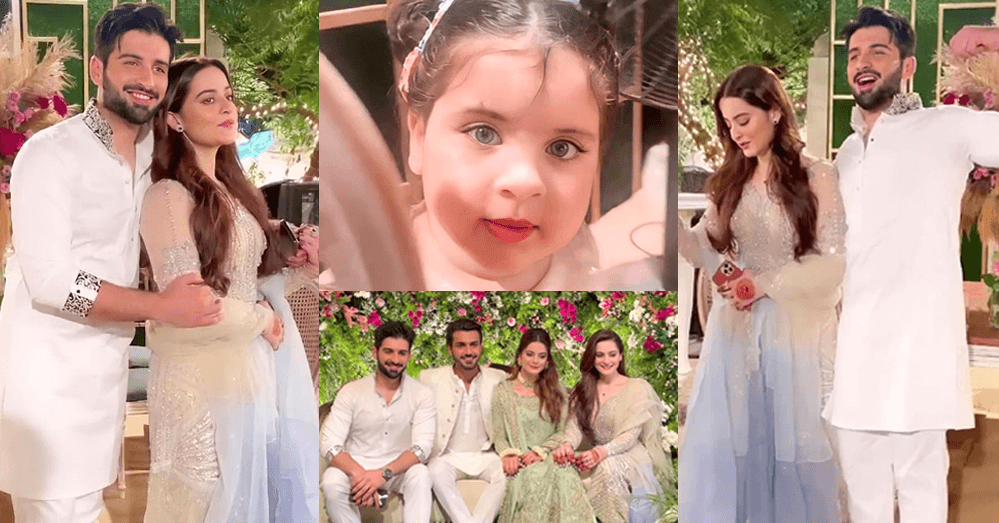 Beautiful Pictures of Aiman Khan At Her Sister's Engagement Ceremony