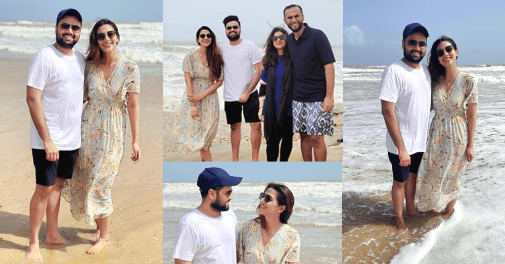 Rabab Hashim Enjoys Vacation Time On Beach, Shares Adorable Snaps With Husband (2)