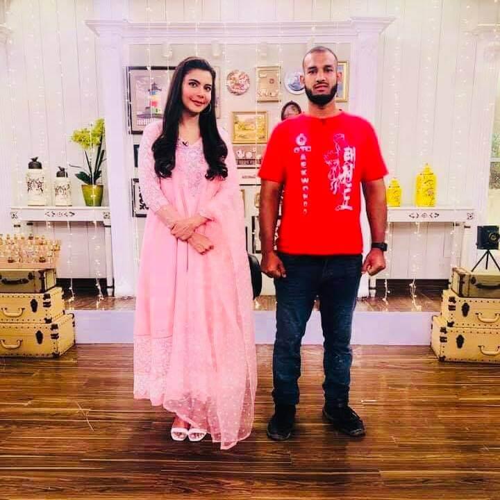 Beautiful Pictures of Abdul Malik's in Nida Yasir Morning Show