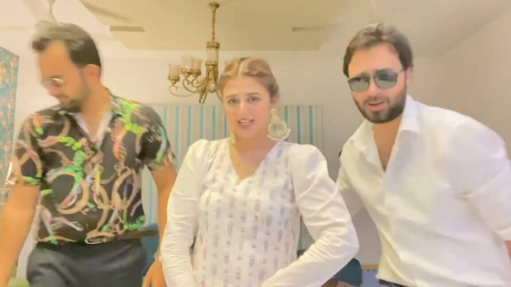 Hira Mani Shared Funny Dance Video With Her Brothers At Home