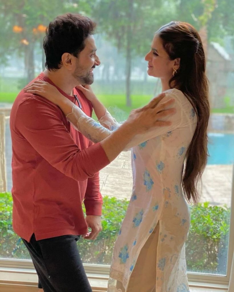 Hira Mani And Salman Sheikh Holidays Romantic Style Pictures